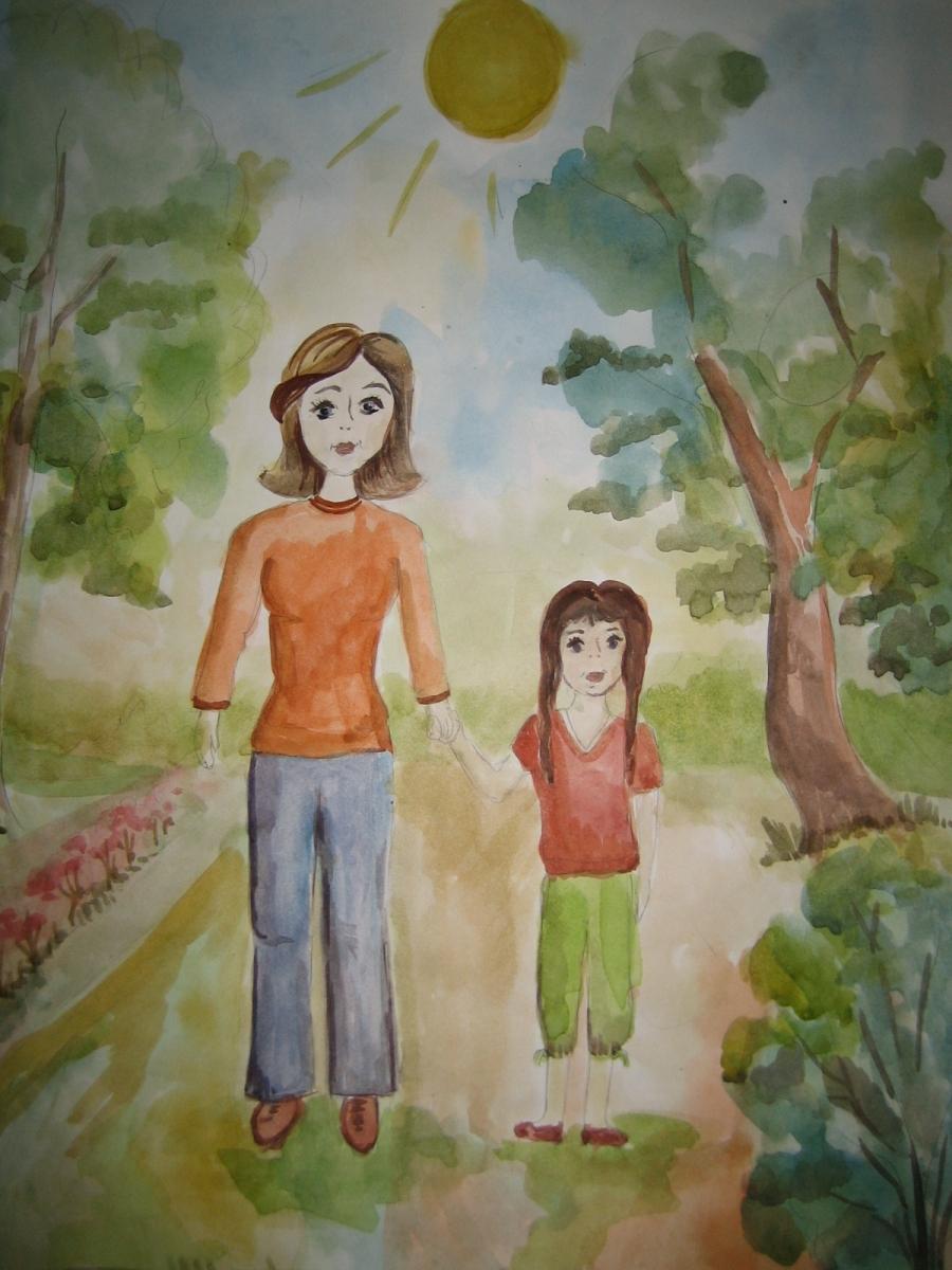 Фото папа мама и я рисунки детей