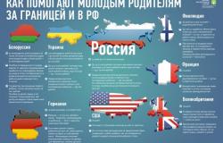 Как помогают молодым родителям за границей и в РФ